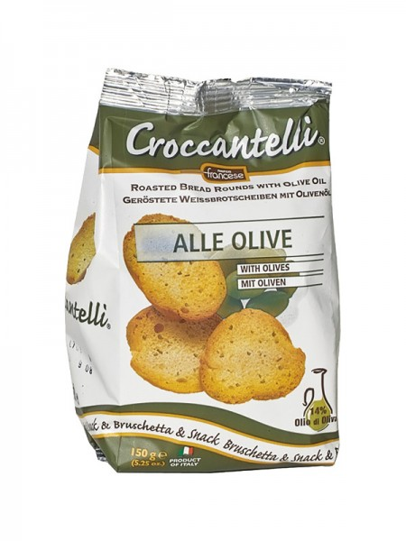 Croccantelli alle Olive - mit Oliven (150g)